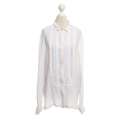 Roberto Cavalli Silk blouse in white