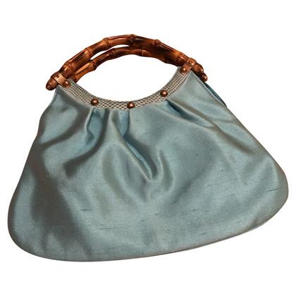 Gucci Bamboo zijden clutch bag