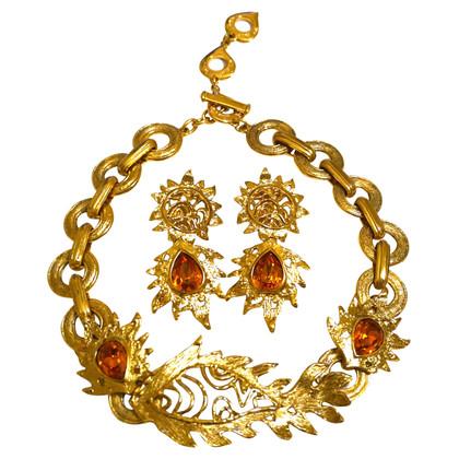 Yves Saint Laurent Halskette und Ohrringe