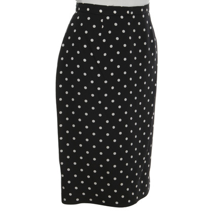 Mugler skirt with polka dots