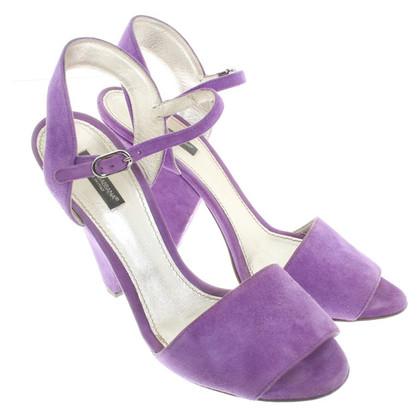Dolce & Gabbana Wildlederpumps in Violett