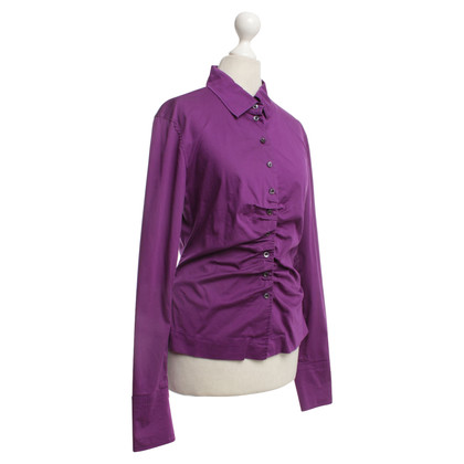 René Lezard Blouse in violet