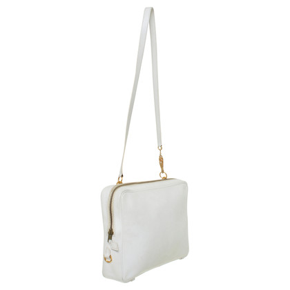 Hermès White leather bag