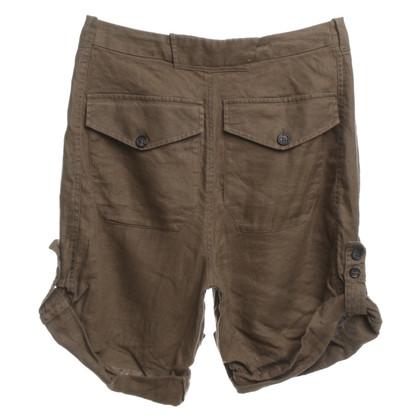 Balenciaga Pantaloncini di lino in kaki