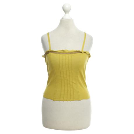 Alberta Ferretti Top aus Baumwolle Gelb