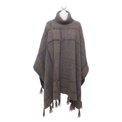 Barbour Poncho with plaid pattern