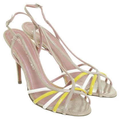 Jean-Michel Cazabat Hoge sandalen beige