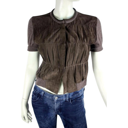 Brunello Cucinelli Leather with cashmere vest
