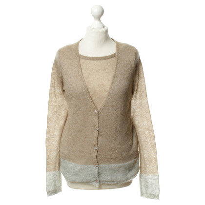 Bloom Twinset in Beige-grau
