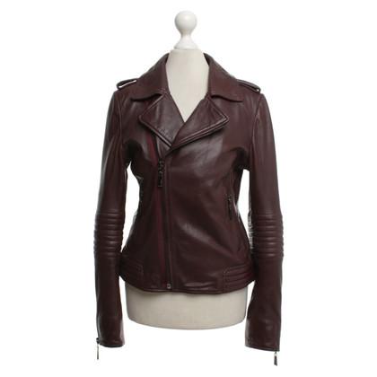 Andere merken Max & Moi - Leather Jacket in Bordeaux