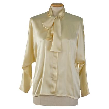 Christian Dior Knop blouse zijde