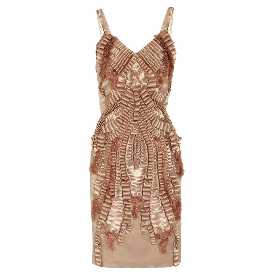 Alberta Ferretti Silk dress in metallic