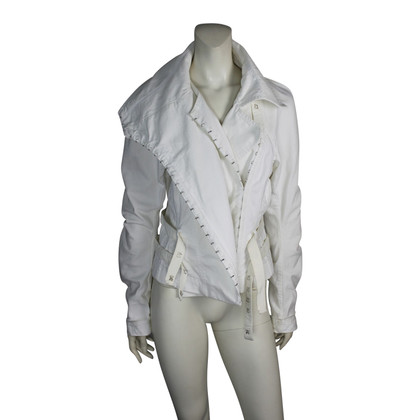 John Galliano White coat of denim