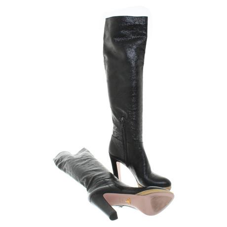 Verkauf Browse Freies Verschiffen Ausgezeichnet Prada Stiefel in Schwarz Schwarz Outlet Online Bestellen Günstig Kaufen Outlet-Store Spielraum Footlocker Bilder R04yQ