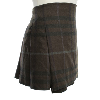 Burberry Wrap skirt with check pattern