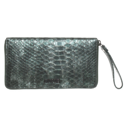 Cinque Wallet with reptile embossing