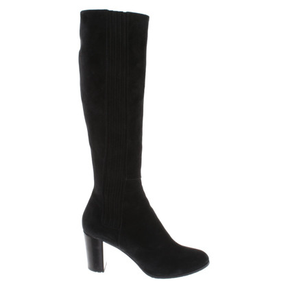Sergio Rossi Suede boots in black