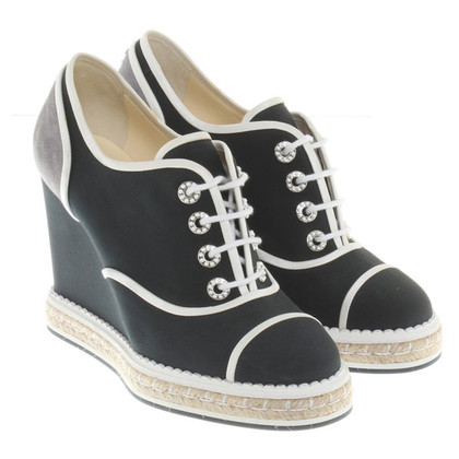 Chanel Sneaker Wedges in zwart
