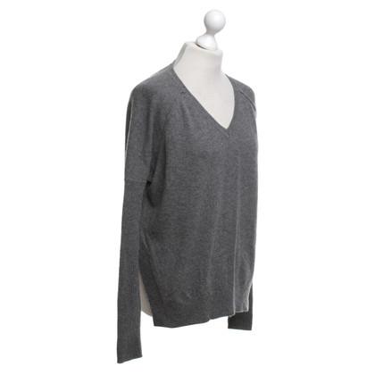 Velvet Sweater in grey