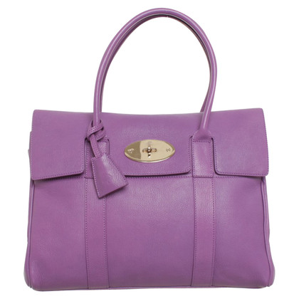 Mulberry 'Bayswater Bag' in purple