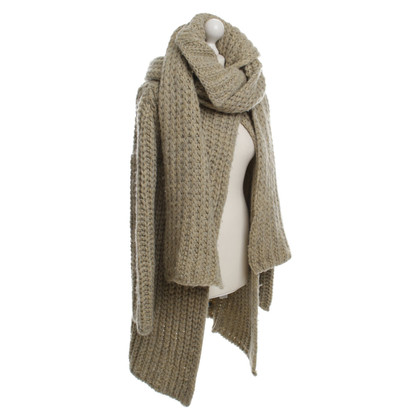 Strenesse Blue Rough knitting coat with scarf