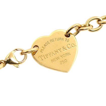 Tiffany & Co. 18K Yellow Gold Chain with Heart Pendant