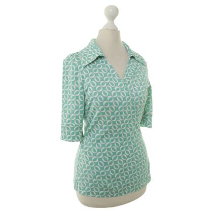 Diane von Furstenberg Wrap top with geometric pattern