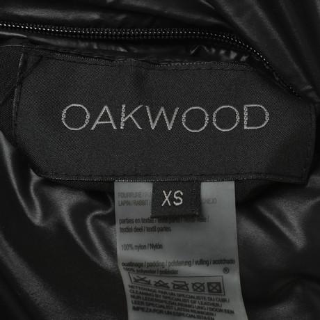 Oakwood Wendeweste Schwarz mit Oakwood Wendeweste Kaninchenfell UqaTczWPYw