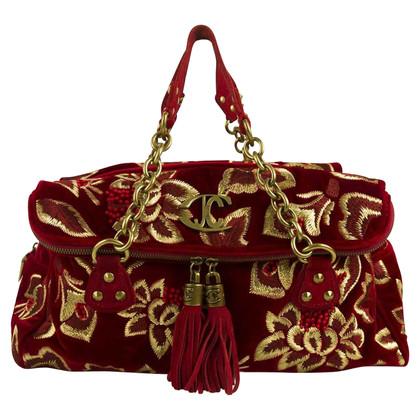 Just Cavalli rood fluweel tas