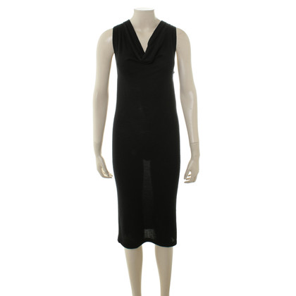 DKNY Black dress with waterfall collar