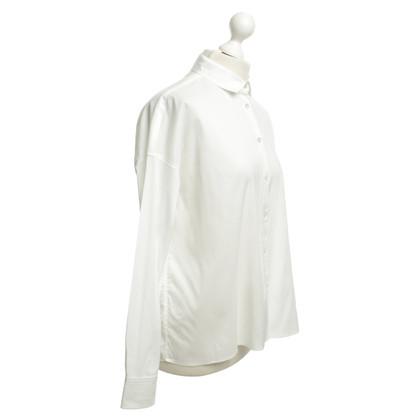 René Lezard Wide blouse in het wit