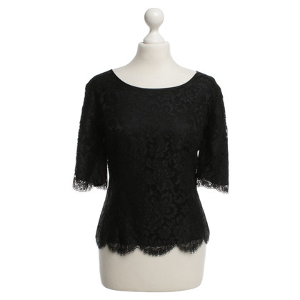 Escada Lace Top in Black