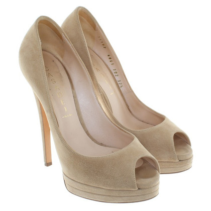 Casadei Peeptoes from suede