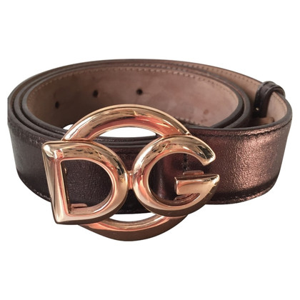 Dolce & Gabbana Bronze leather belt
