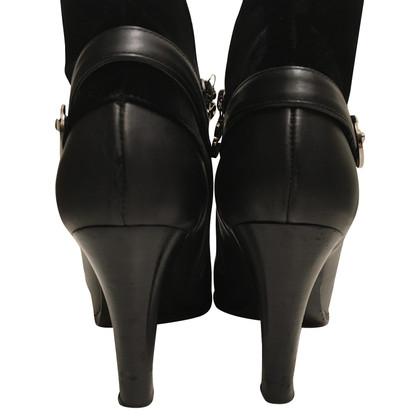Escada Boots with velvet inserts