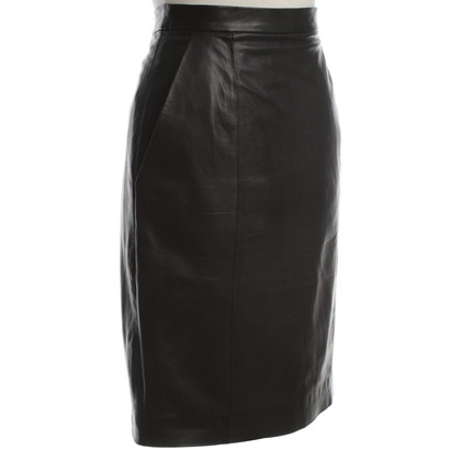By Malene Birger Leather Skirt in Black