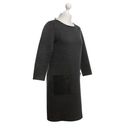 Christian Dior Jurk in zwart / grijs