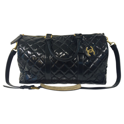 Chanel Patent leather travel bag