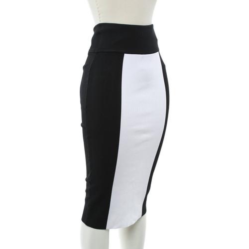 5e1c551aa Balmain X H&M skirt in black and white - Second Hand Balmain X H&M ...