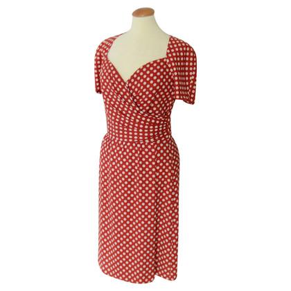 Rena Lange Robe rouge avec des points