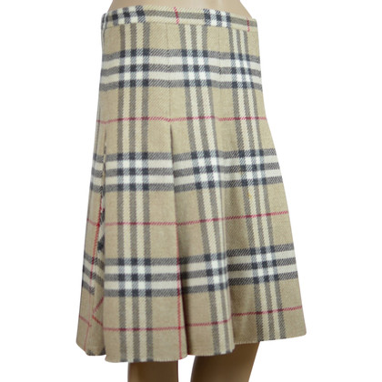Burberry Wool skirt with Novacheck pattern