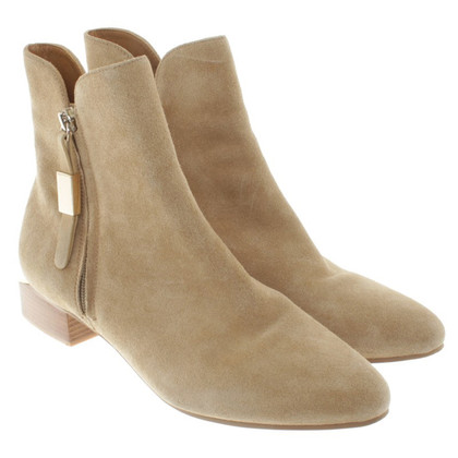 See by Chloé Leather ankle boots in beige