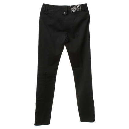 Marc Cain Black trousers with leather. Size N2