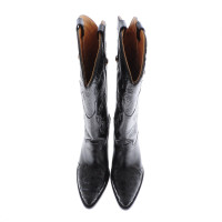 Other Designer Black leather cowboy boots