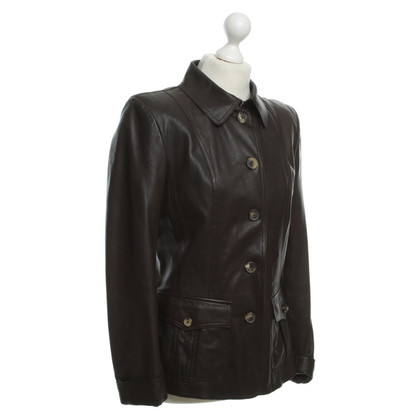 Bally Lederjacke in Braun