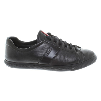Prada Leatherersneakers in black