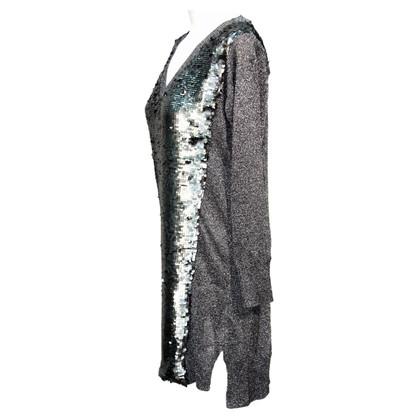 French Connection abito in maglia con paillettes