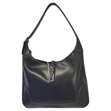 Hermès Navy leather bag