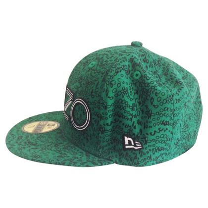 Kenzo Ongedragen groene Kenzo New Era Cap