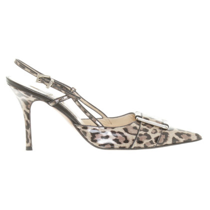 Luciano Padovan Leopard print Slingbacks